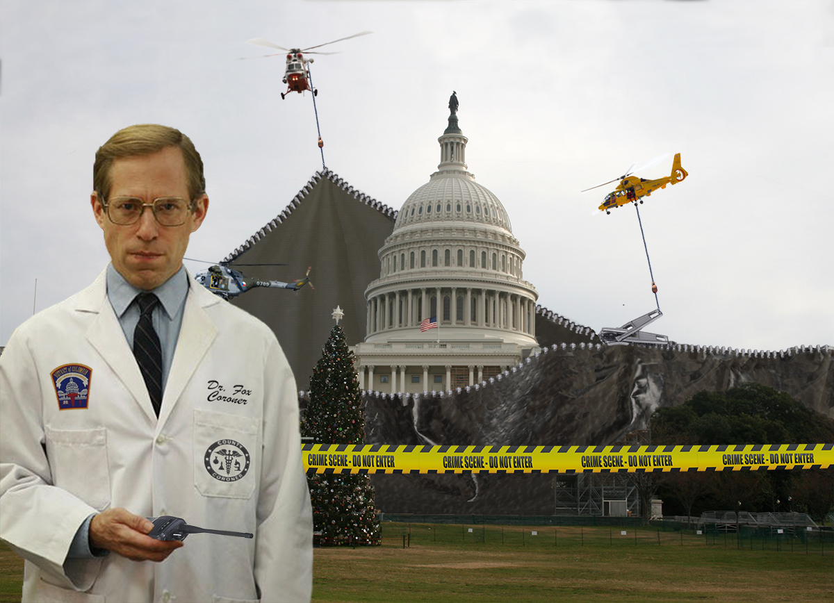 D.C. Coroner Edward Fox Sees To the Bagging of the Obviously Brain Dead Legislative Body