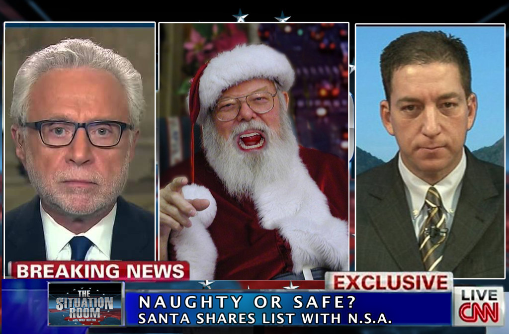 GLOBAL OUTRAGE MOUNTS AS SANTA ADMITS NAUGHTY/NICE LIST SHARED WITH NSA