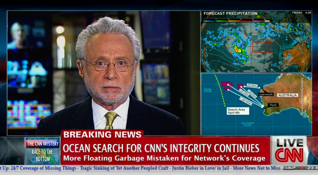 "UNDERSEA SEARCH FOR CNN'S JOURNALISTIC INTEGRITY NEARS ""DISAPPOINTING"" END"