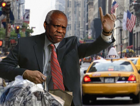 Perplexed Clarence Thomas Unsure Why He Can't Get a Cab