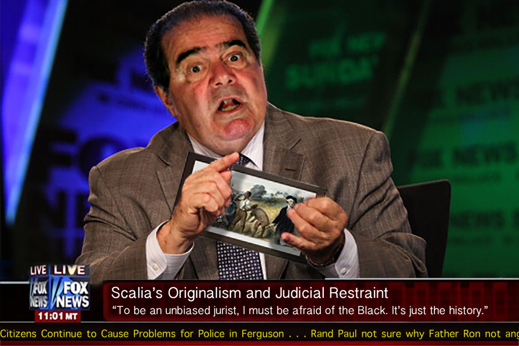 Justice Scalia explains his history of racism