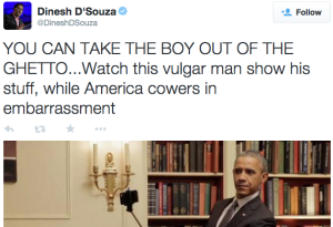 ** DEVELOPING NEWS: Informed He is Not White, Dinesh D'souza Denounces, Kills Self**